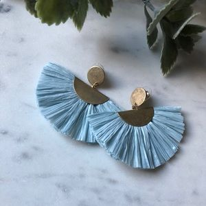 The Emma - Pale Blue Fanned Earrings